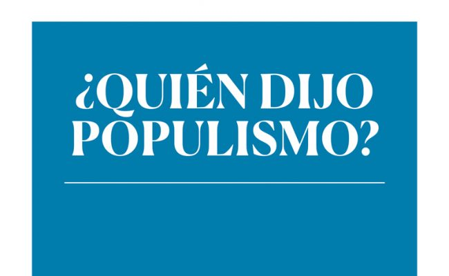 "Book presentation: ""Who said 'Populism'?"""