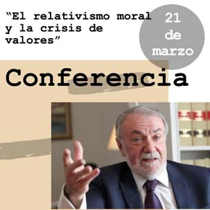Presentation – Moral Relativism and Crisis of Values (by Jaime Mayor Oreja)